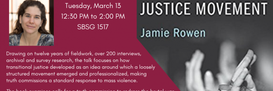 Book Talk with Jamie Rowen – 3/13/18