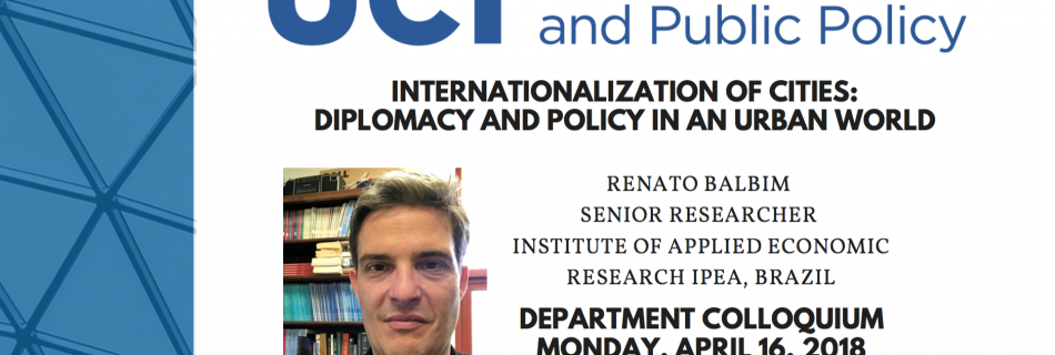 Internationalization of Cities with Renato Balbim – 4/16/18