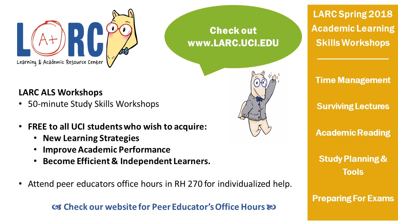 LARC Spring 2018 ALS Workshops