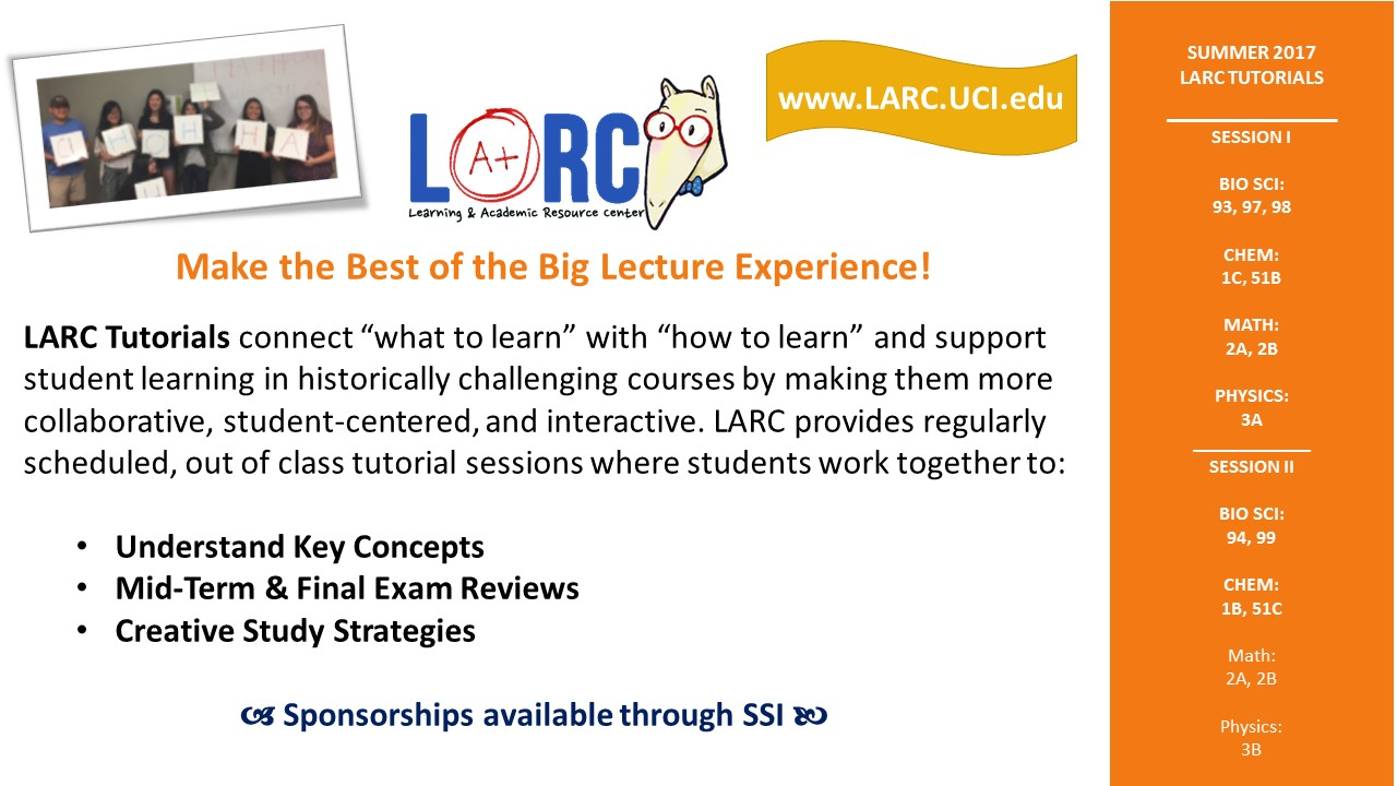 LARC Summer Tutorials