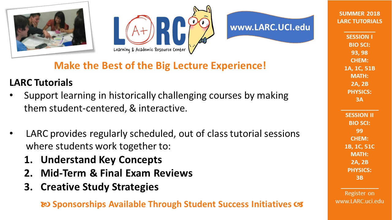 Summer 2018 LARC Tutorials