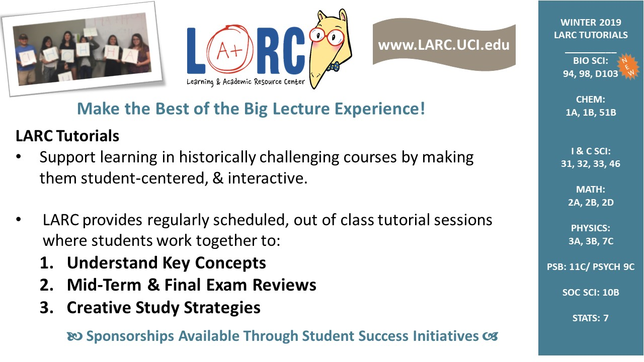 Winter 2019 LARC Tutorials