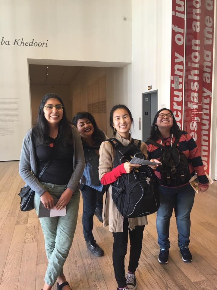 TRIO scholars having an enjoyable time at LACMA!