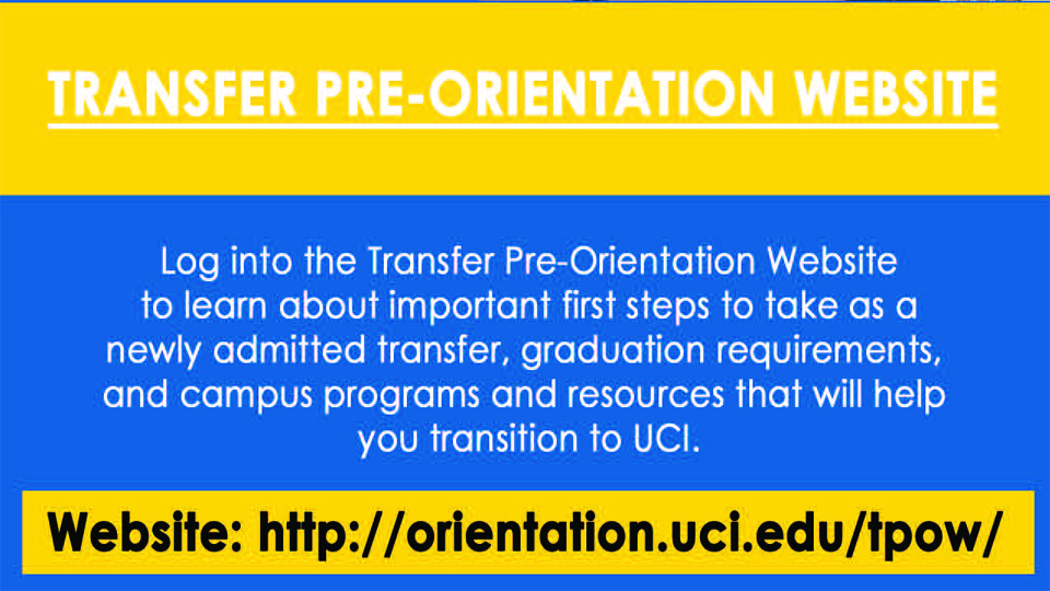 Transfer Pre-Orientation Website (TPOW)