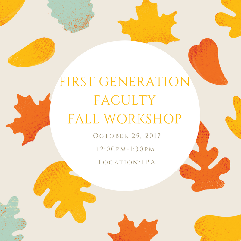 Fall Workshop - UCI First Generation