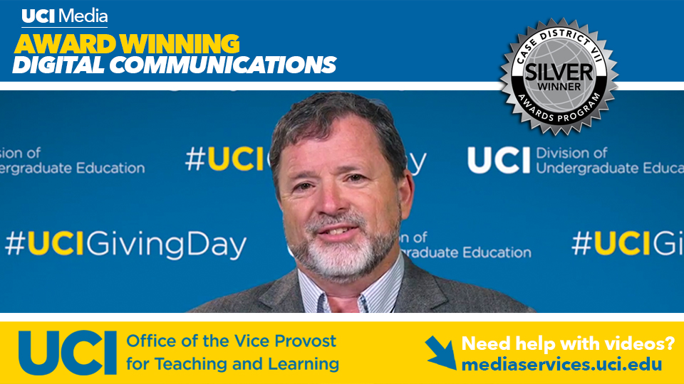 UCI Media Wins Award for UCI Giving Day Promotional Videos