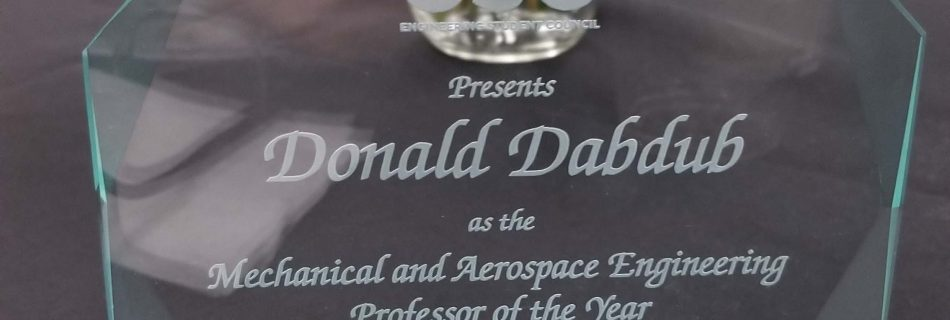 Students Name Dr. Donald Dabdub Professor of the Year