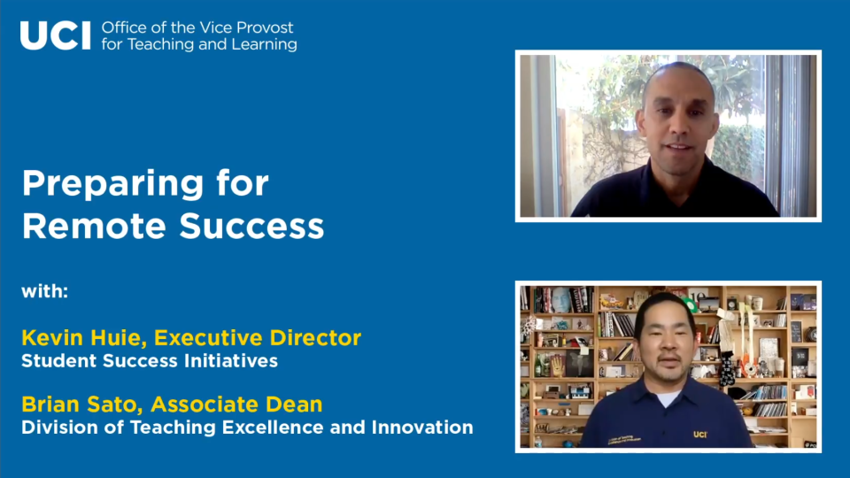 How UCI Prepared for Remote Student Success