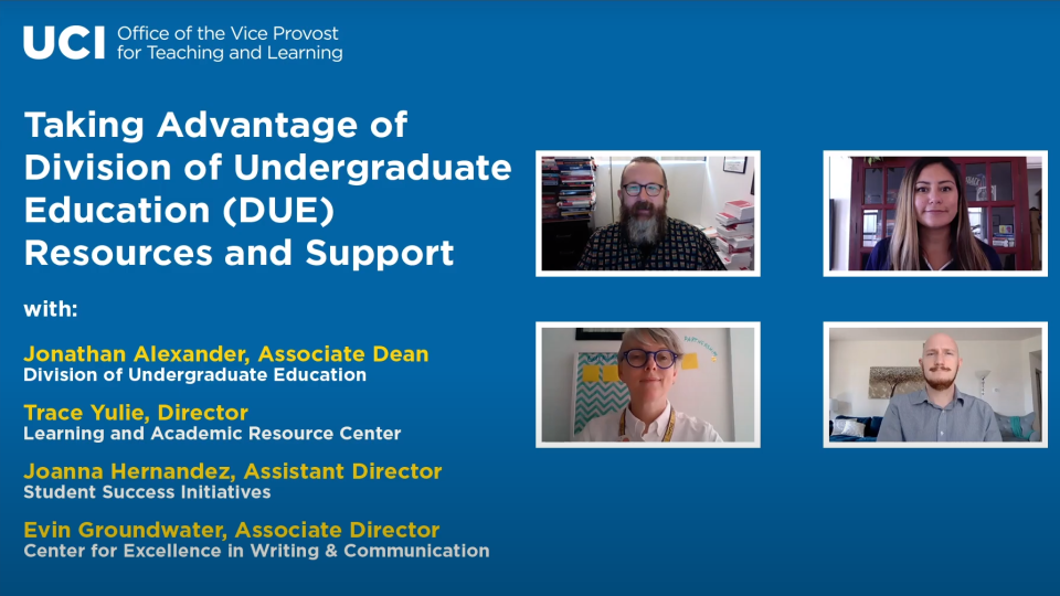 Taking Advantage of Division of Undergraduate Education (DUE) Resources and Support