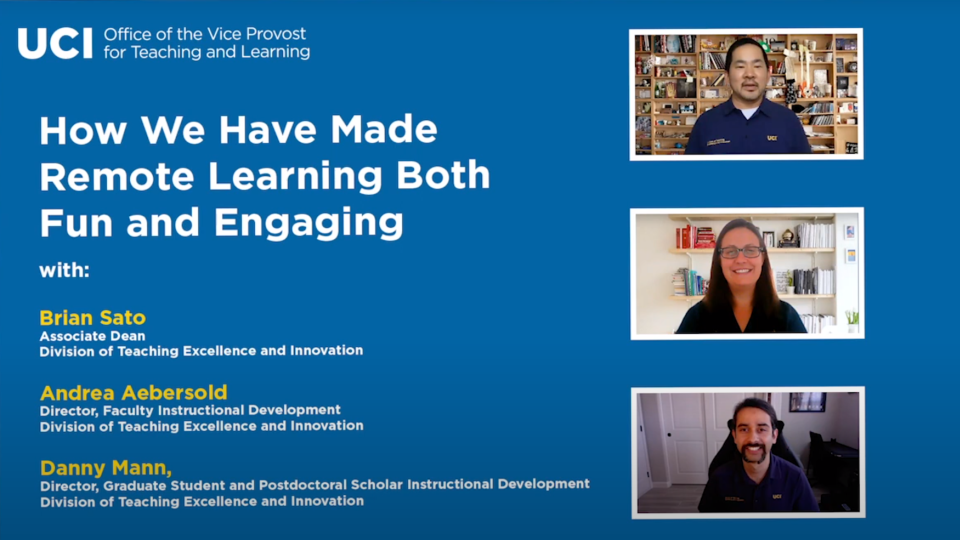 How UCI Has Made Remote Learning Both Fun and Engaging