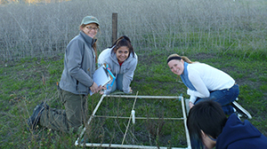 Uni Stu 13 students in the field